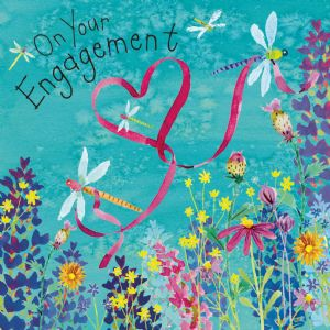 FIZ76  Dragonfly Engagement Card